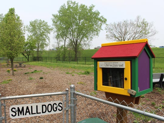 """The Windsor Heights dog run features a """"Little Free"""
