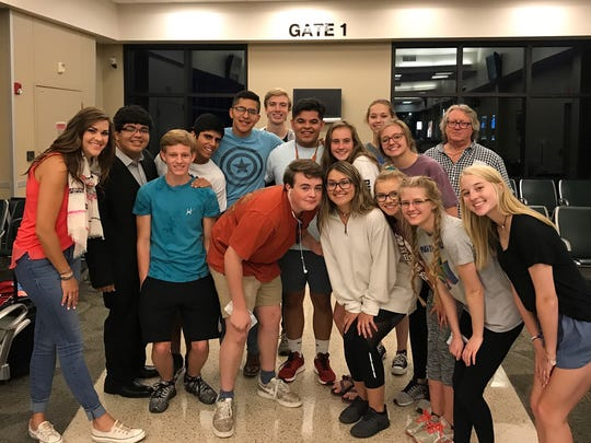 Fourteen of Central High School's speech and debate team pose for a photo as they head to the 2017 National Speech and Debate Tournament in Birmingham, Alabama.