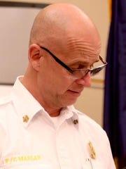 Douglas County Fire chief Greg Marlar speaks during