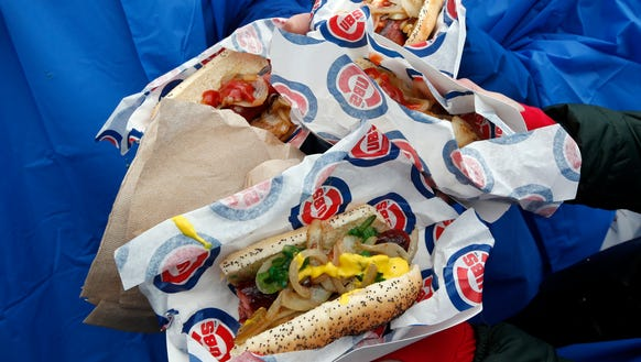 Don't forget to try a hot dog when you visit Chicago.