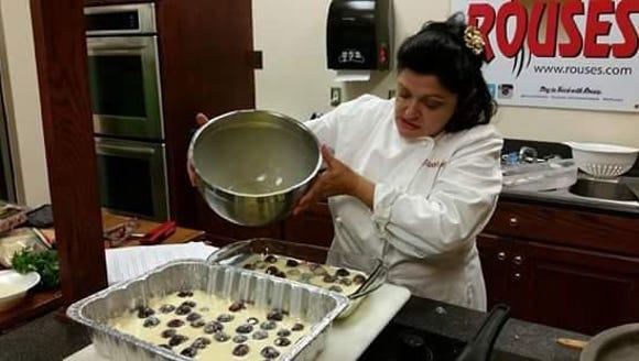 Chef Agnes Cappello of Savoir Faire makes cherry cobbler