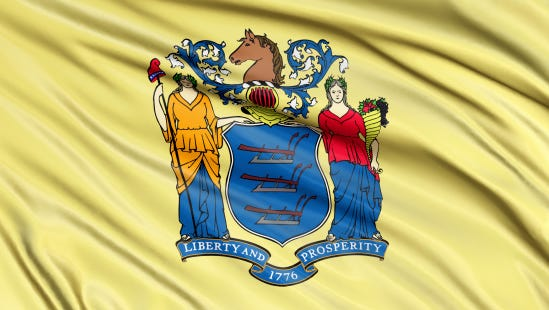 File photo of New Jersey flag