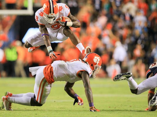 Clemson Auburn second half action