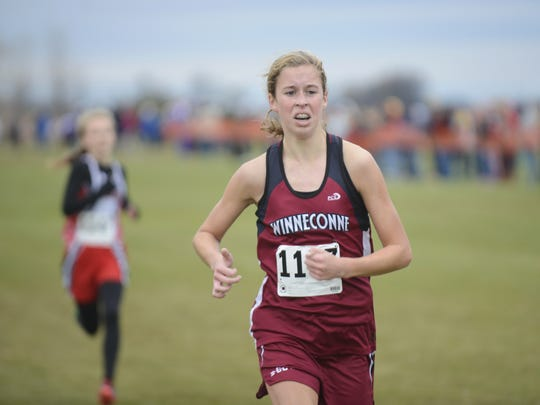 Winneconne's Abby Johnson finished in 17th place at the WIAA Division 2 Sectional Cross Country Meet last year in Two Rivers. She was the top Winneconne finisher at the race.