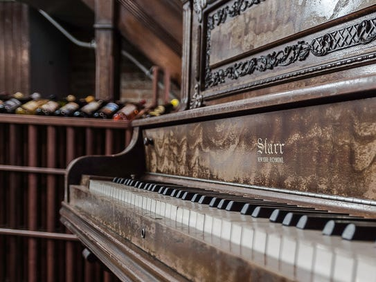A 1901 Starr piano is seen at Melton Renzulli Wines
