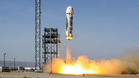 In this 2016 file photo, Blue Origin launched and landed