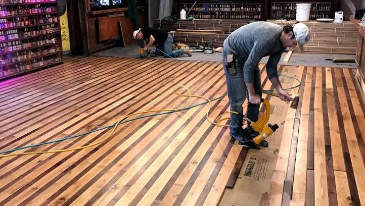 New hardwood floors will greet revelers at The Starboard's