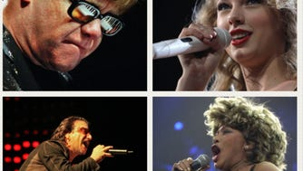 The BMO Harris Bradley Center hosted more than 300 concerts in its 30-year history, including such superstars as (from top left corner) Elton John, Taylor Swift, Tina Turner and U2.