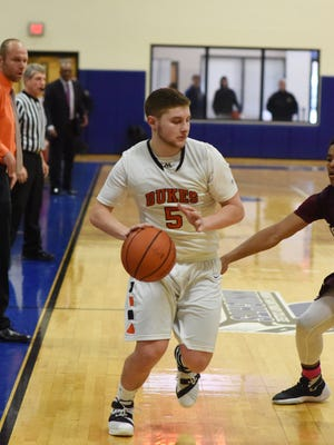 Marlboro's Nick Mongelli, shown here in a March 5 file photo, is one of many sharpshooters, who helped get the Iron Dukes into the Class B state title game.