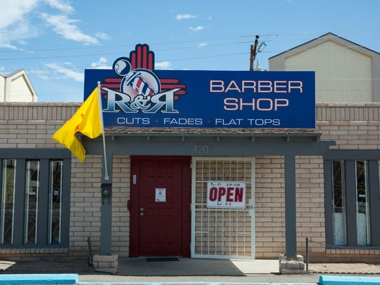The newly-opened  R & R Barbershop on Foster Road.
