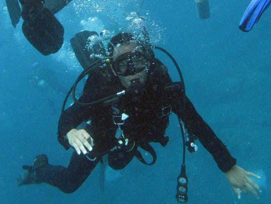Scuba diving in the winter months in the Gulf of Mexico