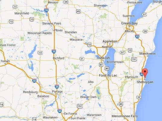 Sheboygan Wisconsin map - regional state.JPG