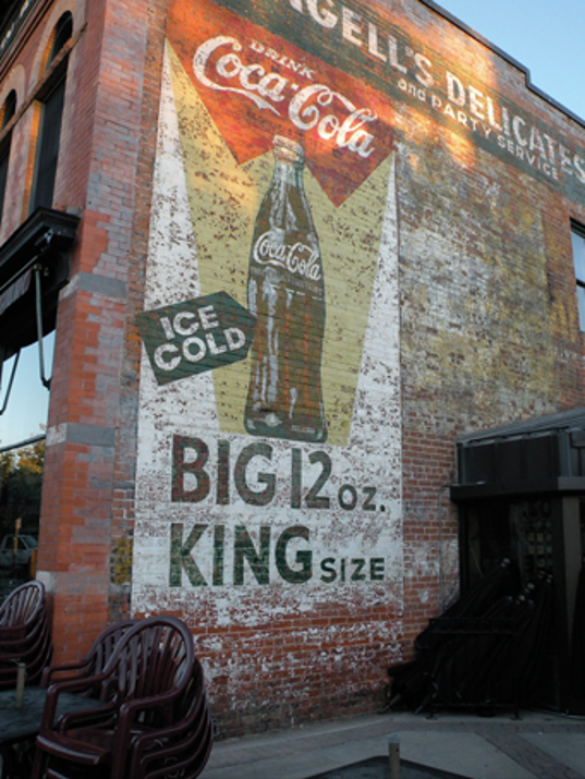 10 date ideas in downtown fort collins for Coca cola wall mural