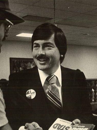 Terry Branstad sported a mustache back in 1978 when he was a candidate for lieutenant governor.
