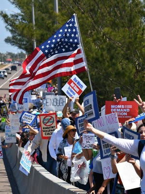 They were expecting at least 700 people for the March for our Lives in Melbourne on Saturday and thousands showed up to listen to speakers and peacefully line the Eau Gallie Causeway.