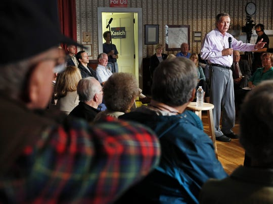 "Voters listen Oct. 13 as Kasich asks them to ""get a"