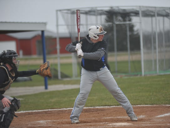 Wynford's Caleb Stone had a pair of RBIs and scored