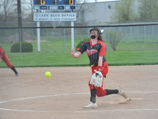 Caleigh Rister struck out seven batters.