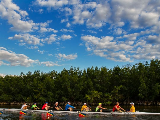 Members of the Caloosa Coast Rowing Club in Cape Coral