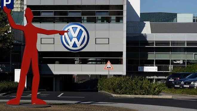 A Volkswagen branch in Dusseldorf, Germany.