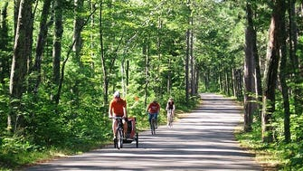 The Crystal Lake Trail runs from the Boulder Junction Chamber of Commerce to Crystal Lake Campground 11 miles away and is part of the Heart of Vilas County Trail System.