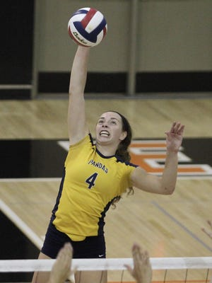Morgan Hentz led Notre Dame Academy in kills last season while helping the Pandas to a fourth straight Ninth Region crown.