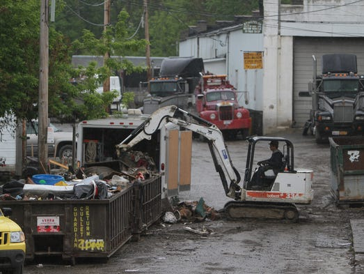 Clean up continues on Champlin Avenue.