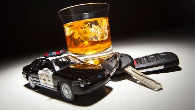 Drinking and driving illustration.