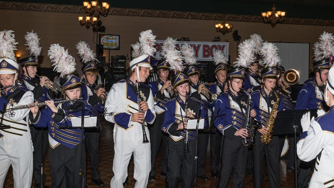 The Oconomowoc High School marching band performs at a previous Lake Area Free Clinic gala. The event will be held Sept. 9 at Olympia Resort, 1350 Royale Mile Road in Oconomowoc.