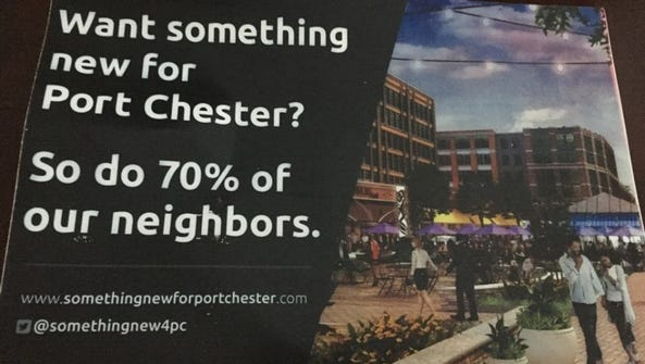 A postcard mailing that was sent to Port Chester residences.