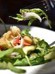 Lettuce grown on the Hyatt Regency Guam grounds were part of the lunch buffet salad offerings at the hotel's Al Dente Restaurant on July 20.