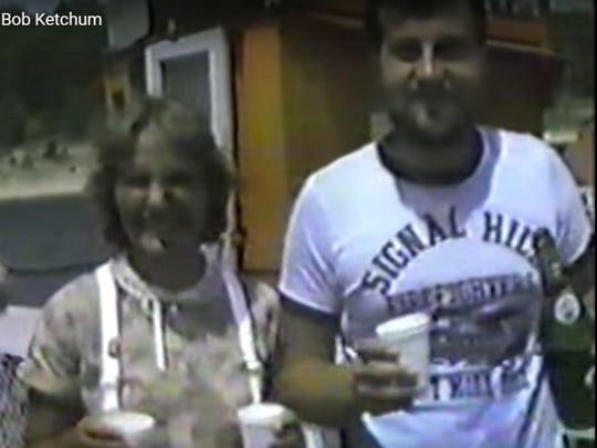Champagne in styrofoam cups was how Patty and Bob Lelly celebrated what is believed to be the first and only wedding conducted on the Norfork Lake ferry on Aug. 8, 1980.