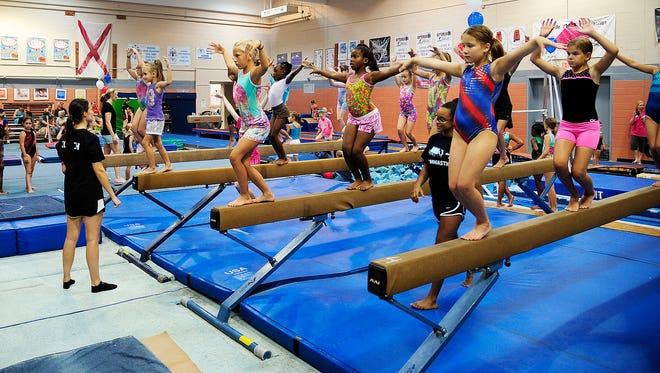 National Gymnastics Day at the Prattville YMCA on Saturday, August 9, 2014, in Prattville, AL.