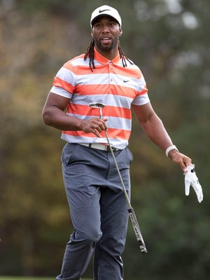 Larry Fitzgerald approaches acompeted in the Diamond Resorts International in Florida.
