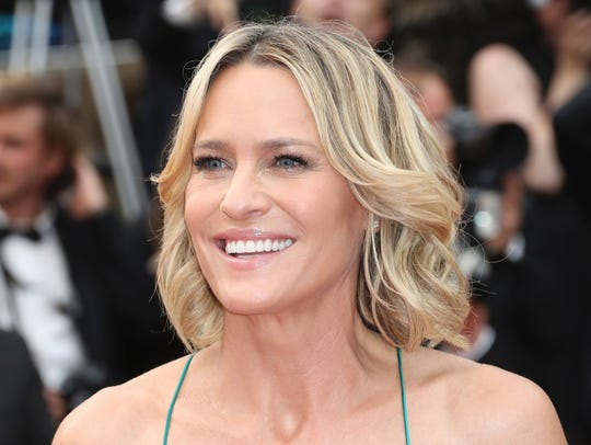 Saturday: Robin Wright, seen last month for a screening