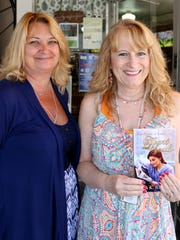 Lisa Strom, left, and Salem author Linda K. Richison,