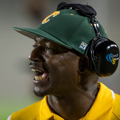Carver coach Willie Spears against Lee at Cramton Bowl