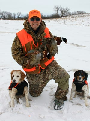 Jerry Carlson finds that snow, cold weather and spooky birds creates a challenge for late-season pheasant hunters.