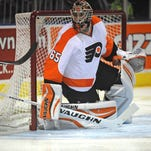 The Flyers recalled Anthony Stolarz Tuesday morning to replace Michal Neuvirth.