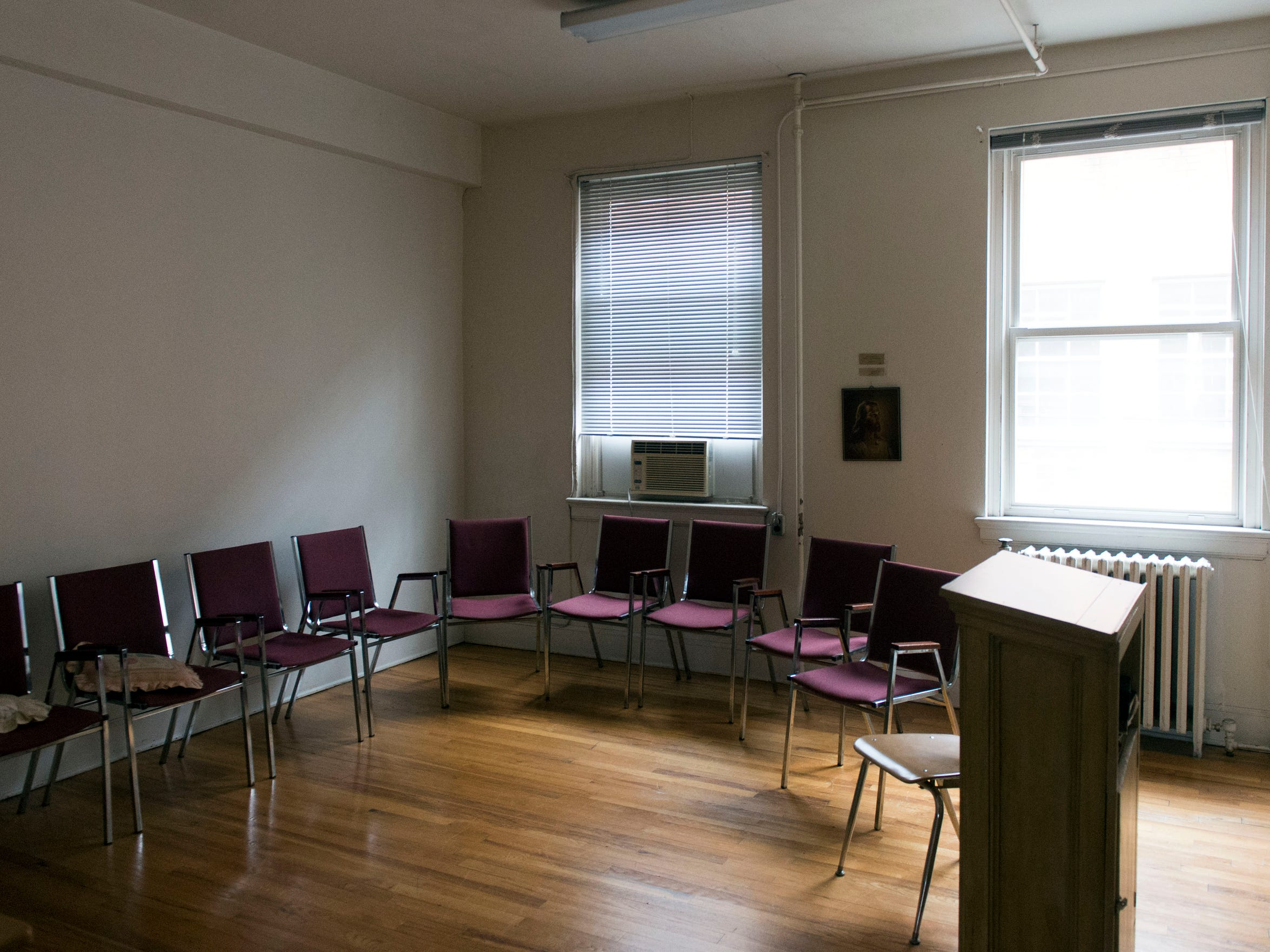 One of the Sunday School rooms at Fifth Ave. Baptist Church.