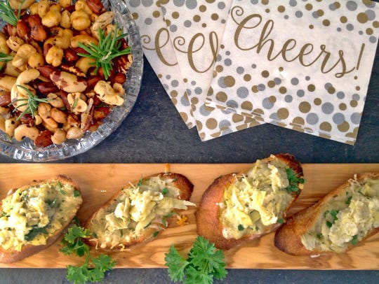 Artichoke Heart and Parmesan Crostini (shown here with