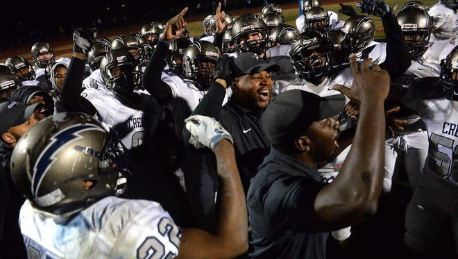 Timber Creek celebrates after  winning its sectional semifinal over Hammonton.