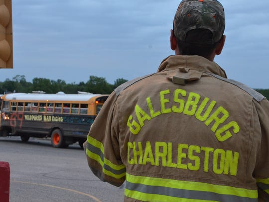 Firefighters from Galesburg-Charleston fire department