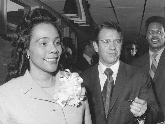 Coretta Scott King with Indiana Senator  Vance Hartke