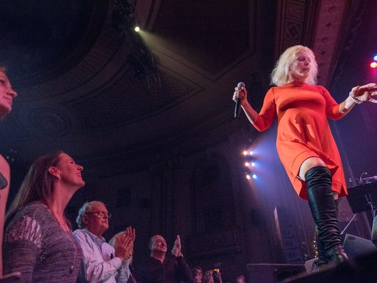 Singing is Deborah Harry at the 2015 Hope Concert.