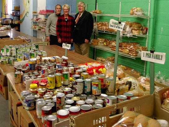 Woody Shulander (from left), manager at Peter's Pantry,