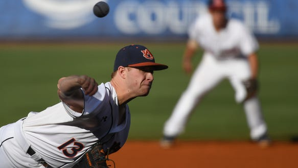 Davis Daniel Auburn baseball vs Arkansas on Thursday,