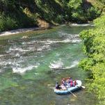 Whitewater rafting on the North Umpqua River.