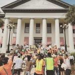 Moral Monday urged legislators to stand up for social justice.