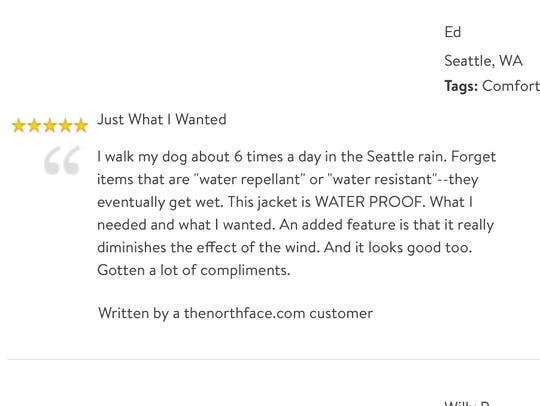 A review originally written on the North Face site,